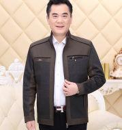 Middle-Aged And Elderly Jacket Men Plus Velvet Thickening Men's Plus Cotton Jacket