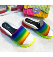 Color Sports Style One-word Slippers Cross-border Slippers Women