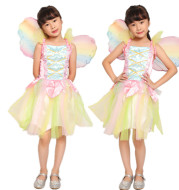 Princess Dress Cosplay Rainbow Angel Butterfly Elf Stage Costume