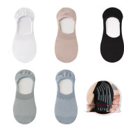 Socks Female Spring And Summer Boat Socks Pure Cotton Silicone Non-Falling Heel Socks Shallow Mouth Non-Slip Invisible Spring And Autumn Ins Tide Thin Section