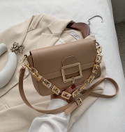 Fashion Thick Chain One Shoulder Underarm Bag Small Square Bag