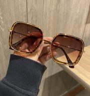 Retro Big Frame Square Brown Sunglasses For Women