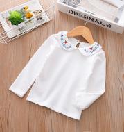 Children's Clothing Girls Doll Collar Long-Sleeved T-Shirt