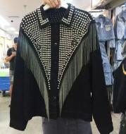 Denim Jacket New Fashion Riveting Design