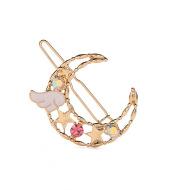 Simple Hair Accessories Angel Color Diamond Star Moon Hairpin