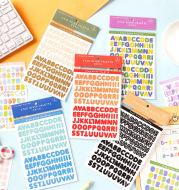 Message Number Letter Sticker Galaxy Palette Series English Letter Handbook Decoration Material Sticker
