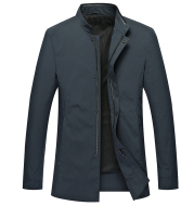 New Middle-Aged Men's Stand-Up Collar Jacket Business Casual Jacket Zipper Windbreaker