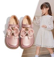 2021 Spring And Autumn New Girls Shoes Princess Leather Shoes Leather Soft Sole British Style