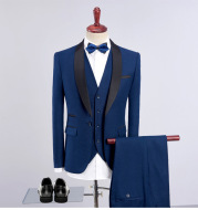 Slim Groom Wedding Reception Formal Dress