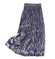 High Waist Velvet Ruffled A-line Skirt