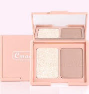Two-Tone Delicate Natural Blush Highlighter Powder Repairing Palette