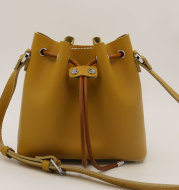 Leather Hand-stitched Bucket Bag
