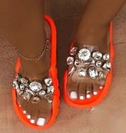 Sandals Ladies Summer Crystal Sandals Glitter