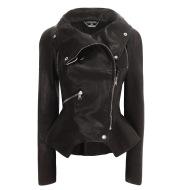 Lapel Coat Pu Leather Jacket Good Quality Leather Coat
