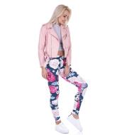 EBAY Amazon Women's WISH Hot Selling Style Peony Print Leggings Yoga Pants