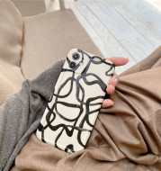 Creative Style Black Ink Line Black And White Suitable For Iphone12Promax Iphone Case