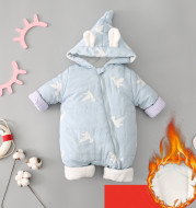 One Piece Clothes, Winter Thick Hugging Clothes, Winter Clothes, Newborn Down Cotton Padded Clothes, Baby Men's Going Out Clothes