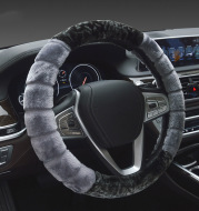 Short Plush Steering Handle Cover Non-slip And Warm Universal Steering Wheel Cover