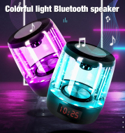Portable Colorful Wireless Crystal Glass Bluetooth Speaker
