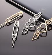 Hollow Word Clip Hair Accessories Paper Clip Hair Clip
