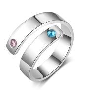 Personal Ring Custom Engraved Name Birthstone Ring