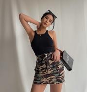 High-Quality Camouflage Bag Hip Skirt Europe And America Show Leg Length, Wild High Waist Short Skirt, New Summer