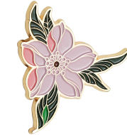 Lovely National Style Small Fresh Enamel High-end Simple Female Brooch Personality Original Cherry Blossom Brooch