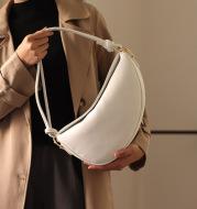Simple Casual One-Shoulder Crescent Knotted Handbag