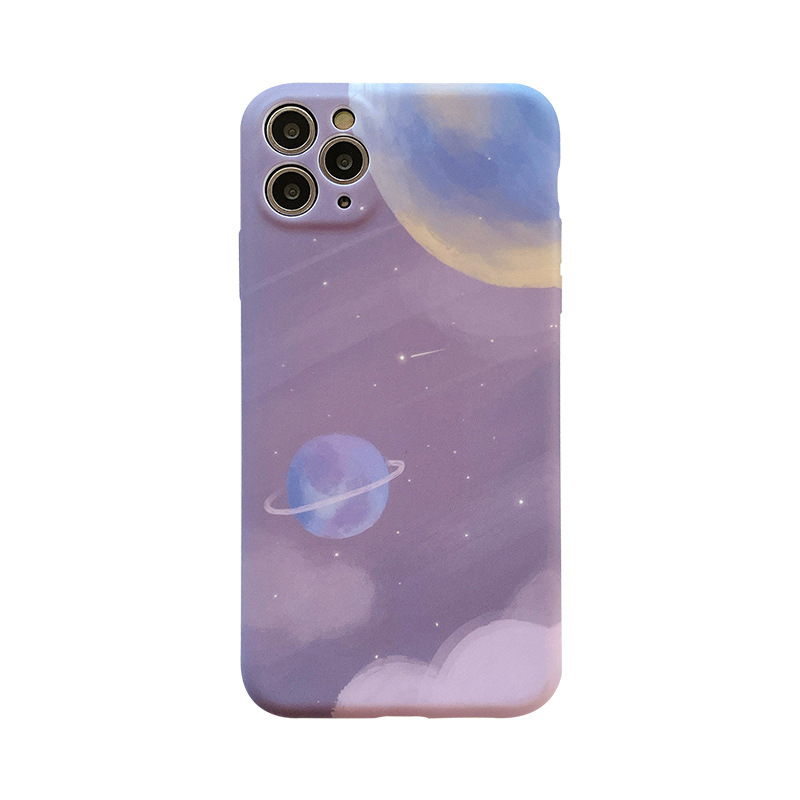 Purple Starry Planet iPhone Cover