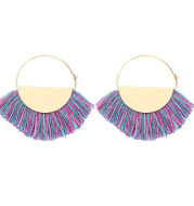 Handmade Creative Tassel Ethnic Style Circle Earrings