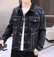 Playboy Mens Denim Jacket 2021 New Spring Korean Version Of The Trend Of All-Match Casual Spring And Autumn Mens Jackets