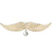 Full Diamond Delicate Hairpin Angel Wings Alloy Top Clip Elegant Lady Head Half-tie Hair Duckbill Clip Korean Hair Accessories
