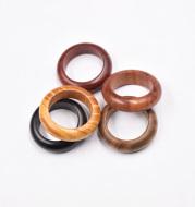 Sandalwood Ring Buckle Ebony Green Sandalwood Blood Sandalwood Ring Handmade Buddhist Bead Pendant