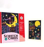 Melody Children's Color Scratch Paper Dream Series Scratch Painting Set
