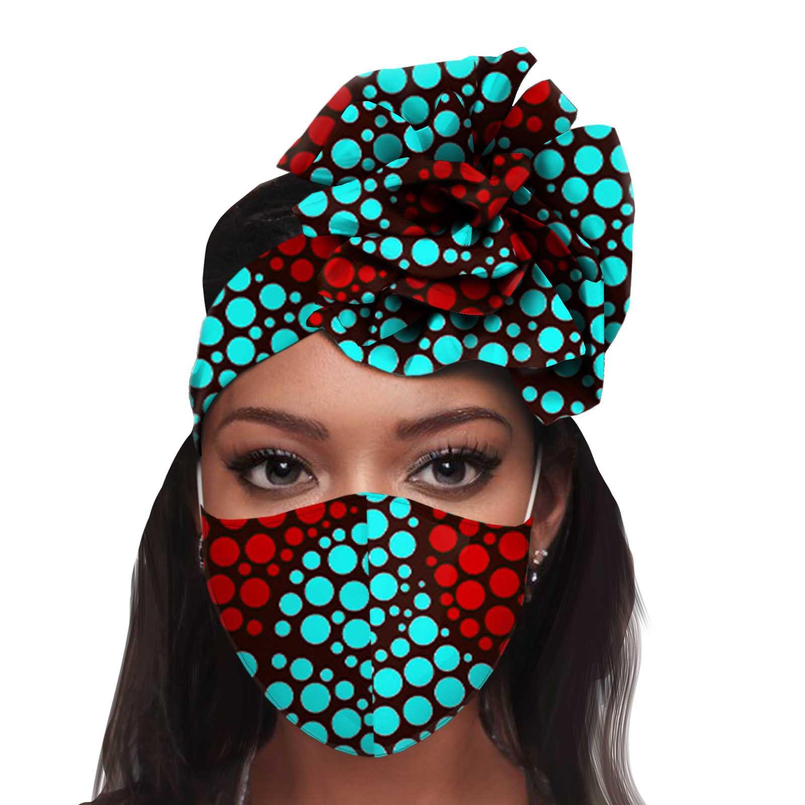 Masque en coton batik africain