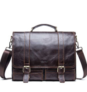 Leather Business Briefcase Large Capacity Diagonal Bag