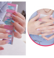 Shell Nail Sticker 3D Bronzing 20 Nail Stickers Double Row Nail Sticker