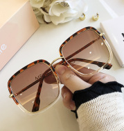 Personality Square Sunglasses Retro Style Thin Round Face Men And Women UV Protection Glasses