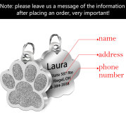 Customized Personality Stainless Steel Bone Dog Id Tag