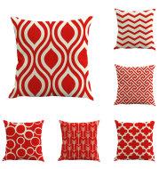 Foreign Trade Amazon Custom Simple Abstract Geometry Linen Cushion Office Cushion Pillowcase