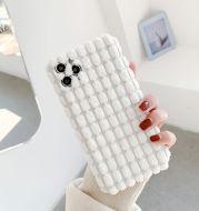 New Three-Dimensional Grain Plush Mobile Phone Case Apple 11 Lens All-Inclusive Protective Cover