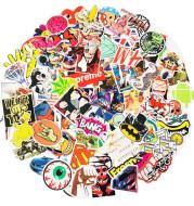 100 Non-Repeat Car Personality Cartoon Creative Stickers Luggage Notebook Helmet Graffiti Stickers
