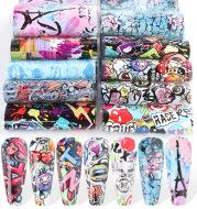 Funny Graffiti Young Trendy Cartoon Character Nail Transfer Stickers