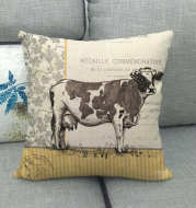 Retro Animal Painting Design Linen Pillowcase