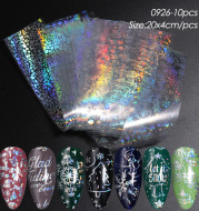 Cross-Border Source Of Nail Art Starry Paper Ins Laser Silver Transparent Bottom Snowflake Christmas Nail Transfer Sticker Nail