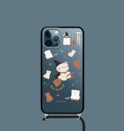 Fisherman Original Mobile Phone Protective Shell Transparent Soft Suitable For Iphone Apple 12Mini Pro Max Diagonal Lanyard