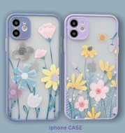 Small Clear Flower Skin Phone Case For Apple