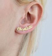 DIY custom English letter name earrings personalized custom earrings holiday gift