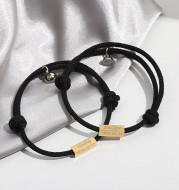 Letter Magnetic Woven Couple Bracelet Bracelet With Engraved Name