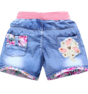 Sand Washed Denim Girls Shorts Girls Baby Outer Wear Thin Section